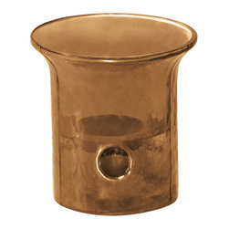Everybody's Ayurveda - Cylinder Tealight Holder in Glass and Metal - Sepia Brown - Sepia Cylinder Tealight Holder. Glass and Metal. Package Includes: Tealight Holder Only. Dimensions: Width: 4 inch. Height: 4 inch.
