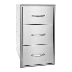 Blaze Outdoor - Blaze Triple Drawer Set - Commercial grade 304 Stainless Steel construction is made for withstanding outdoor elements.