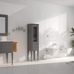 "Macral - Macral Design Products - Guest Bathroom. Diamond set 24"". Taupe."