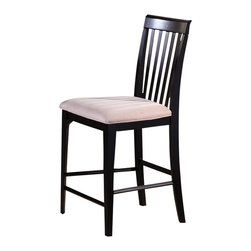 Atlantic Furniture - Atlantic Furniture Montreal Pub Chair in Espresso (Set of 2) - Atlantic Furniture - Bar Stools - AD774201 - The Atlantic Furniture Montreal Pub Chairs are constructed from Eco-friendly solid hardwood and have an elegant Espresso wood finish. This set of two pub chairs feature a vertical slat back design and an Oatmeal colored seat cushion. The Montreal Pub Chairs are perfect for a casual dining room setting.