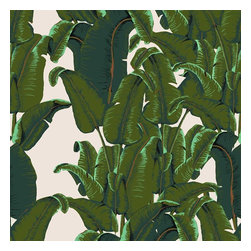 Design Your Wall - Banana Leaf Wallpaper Tiles - Featured Designs by Astek Inc