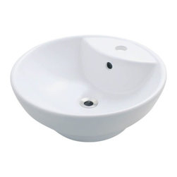 PolarisSinks - Polaris P072VW White Porcelain Vessel Sink - Our extensive line of porcelain sinks will compliment any decor from the traditional to the unique. Our porcelain sinks are true vitreous China with a triple laid glaze to create the strongest sink you will find. Our porcelain sinks are extremely low maintenance. Our porcelain sinks are covered by a limited lifetime warranty. Each comes with a cardboard cutout template and mounting hardware.