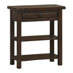 Hillsdale - Hillsdale Tuscan Retreat Console Table in Rustic Mahogany - Hillsdale - Console Tables - 4793889W - Tuscan Retreat TM accent pieces are authentic artisan interpretations of old world and cottage furniture. Each piece is crafted from new and restored timbers to give it the appearance of a century old treasure. The finished are hand prepared from the sanding and scrapping to the final steps. Featuring solid wood throughout and old world cabinet construction. Every detail is designed to bring you years of enjoyment.