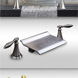 Kokols - Kokols Brushed Nickel Roman Waterfall Bath Tub Faucet - Add some elegance to your bathroom with this classy Roman waterfall bath tub faucet. Finished with brushed nickel on solid brass,impress your guests with this gorgeous faucet. Smooth and long-lasting operation is ensured with a ceramic disc cartridge.