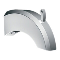 Moen - Moen S144 Felicity Diverter Tub Spout - The Felicity series features bold, sweeping horizontal lines and geometric forms, giving it a modern feel that enhances any refined decorating style.