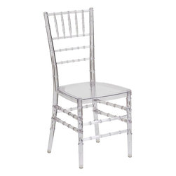 Flash Furniture - Flash Elegance Crystal Ice Stacking Chiavari Chair - If you've been to a wedding, chances are you've sat in a Chiavari chair. Chiavari Chairs have become a classic in the event industry and are also highly popular in high profile entertainment events. This chair is used in all types of elegant events due to its lightweight, stacking capabilities and elegant design. Keep your guests comfortable with optional cushions and keep your chairs beautiful with chair covers.
