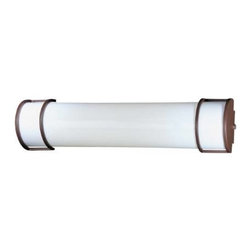 Minka Lavery - Minka Lavery 642-PL 2 Light Bath in Brushed Nickel/Noble Bronze with White Acryl - 120V NPF Electronic (Bulb Not Included)Bulb Included: No Bulb Type: Fluorescent Eco: Yes Energy Star Compliant: Yes Extension: 4-1 2 Finish: Nickel Glass Shade: White Acrylic Height: 6 Light Direction: Ambient Lighting Number of Lights: 1 Style: Traditional Suggested Room Fit: Bathroom, Utility Room UL Listed: Damp Location Wattage: 17 Weight: 8.23 Width: 24-3 4
