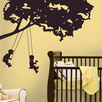 RR - Kids on Swing Giant Peel & Stick Applique - Kids on Swing Giant Peel & Stick Appliqué