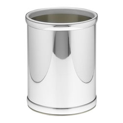 Kraftware - Mylar 10 in. Round Wastebasket in Polished Chrome - Made in USA. 10 in. Dia. x 12 in. H (1.5 lbs.)Kraftware's Mylars bring the look of metal at vinyl prices. Great value, great looks and great entertaining sum up the Mylar collection.