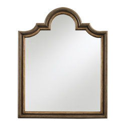 Stanley Furniture - European Farmhouse Vertical Mirror - Prepare yourself for the image conscious world out there with this hand-finished European Farmhouse Vertical Mirror. This eye pleasing blend of central sun motif and beveled-edge glass will add class and elegance to your bedroom space and will compliment your decor well.