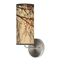jefdesigns - Branch 2 Wall Sconce - With its artful design of stark winter branches reaching down a taupe linen shade, you'll find a place for this unique wall sconce; even in the city, you'll think of the woods. It's the inspiration of Portland native Joe Futshick.