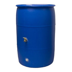 Good Ideas - Rain Wizard Big Blue 55 Gallon Rain Barrel - Water is scarce during the summer months and that's when 40% of water is spent outdoors! Why not save your precious resources by using the Big Blue 55 Rain Barrel. The Big Blue holds up to 55 Gallons of pure, rainwater. Your plants will enjoy the fresh water supply and you won't have to waste your money on running hoses. The Big Blue is a recycled, food-grade rain barrel that's been saved from the landfills and is ready to help you save on your spending. With its low price, the Big Blue 55 Rain Barrel will pay for itself several times over in water bill savings and is even cheaper and easier to maintain than Do-It-Yourself models. Make the choice to save the planet and your money with the Big Blue 55 Rain Barrel. Features: -Resistant to rust, mold, mildew, and rotting.-Brass spigot for hose hook-up or dual overflow.-Screen to keep out debris and insects.-Child and pet safe.-Two optional locations for spigot placement.-Collects chemical free water from your home's downspout.-55 Gallon food grade barrel.-Blue color.-Blue color reduces algae significantly.-Rain Wizard Collection.-Collection: Rain Wizard.-Distressed: No.-Country of Manufacture: United States.Dimensions: -Dimensions: 37'' H x 25'' W x 25'' D.-Weight: 19 lbs.-Overall Product Weight: 19lbs.