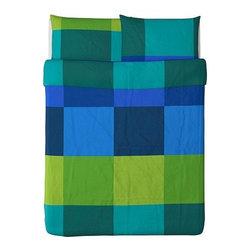 Monika Mulder - BRUNKRISSLA Duvet cover and pillowcase(s) - Duvet cover and pillowcase(s), blue