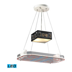 Elk Lighting - Novelty LED 2-Light Pendant in a Hockey Motif - Fun for all ages! These whimsical lighting fixtures will put a smile on you or your child�s face with a myriad of shapes and themes meant to stir the imagination and create a lighthearted environment. - LED, 800 lumens (1600 lumens total) with full scale dimming range, 60 watt (120 watt total)equivalent , 120V replaceable LED bulb included.