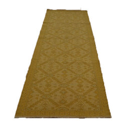 Hand Woven 100% Wool 3'X8' Geometric Flat Weave Ivory Soumak Runner Rug SH7110 - Soumaks & Kilims are prominent Flat Woven Rugs.  Flat Woven Rugs are made by weaving wool onto a foundation of cotton warps on the loom.  The unique trait about these thin rugs is that they're reversible.  Pillows and Blankets can be made from Soumas & Kilims.