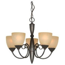 Amazon.com: Hardware House 543728 Berkshire 21-Inch by 18-Inch Chandelier, Oil-R