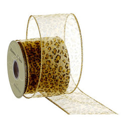 Silk Plants Direct - Silk Plants Direct Animal Print Sheer Ribbon (Pack of 6) - Silk Plants Direct specializes in manufacturing, design and supply of the most life-like, premium quality artificial plants, trees, flowers, arrangements, topiaries and containers for home, office and commercial use. Our Animal Print Sheer Ribbon includes the following: