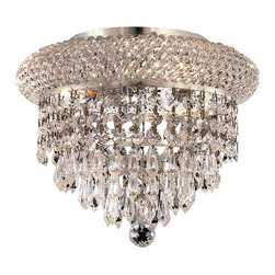 Elegant Lighting - Elegant Lighting 1802F10C/RC Primo Collection Flush Mount - Elegant Lighting 1802F10C/RC Primo Collection Flush Mount