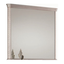 "London 40"" 1/2 mirror wall. Antique silver. - London mirror 40"" 1/2. Antique Silver."