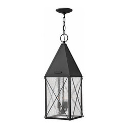 Hinkley Lighting - Hinkley Lighting 1842BK York Black Outdoor Hanging Lantern - Hinkley Lighting 1842BK York Black Outdoor Hanging Lantern