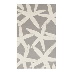 Surya - Surya Boardwalk BDW-4011 (White, Light Gray) 8' x 11' Rug - The two-toned rugs of the Boardwalk collection come in sky blues, ocean greens, and sandy greys. In the same way the lapping of waves inspires relaxation, the ultra-comfortable wool used in the construction of these rugs will have a similar effect.