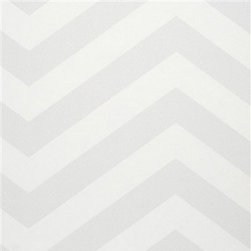 Walls Republic - Grey Chevron Stripe Wallpaper R2554 - Chevron Stripe is a popular classic�geometric pattern�with a bold impact. This large scale pattern is great as a feature wall in your�living room.�It will add a graphic element to your space with an on trend vibe.