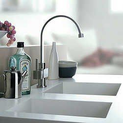 Kitchen Sink Faucets - Stainless Steel Contemporary Kitchen Faucet - Brushed Finish--FaucetSuperDeal.com