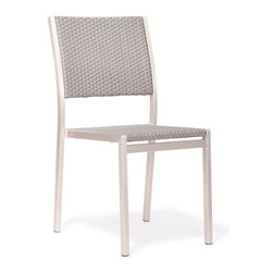 Zuo Modern - Metropolitan Dining Chair - Simple and clean, the metropolitan dining chair will spice up any dining venue. The frame is aluminum with a textile seat and back. Stackable for ease of storage.