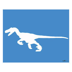 Oh How Cute Kids by Serena Bowman - Mod Raptor, Ready To Hang Canvas Kid's Wall Decor, 11 X 14 - Each kid is unique in his/her own way, so why shouldn't their wall decor be as well! With our extensive selection of canvas wall art for kids, from princesses to spaceships, from cowboys to traveling girls, we'll help you find that perfect piece for your special one.  Or you can fill the entire room with our imaginative art; every canvas is part of a coordinated series, an easy way to provide a complete and unified look for any room.