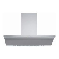 """Designer Range Hoods - """"Logo"""" Series - The unique profile of the """"Logo"""" designer Italian range hood makes an immediate impact on the kitchen design. Sleek and streamlined, it offers the perfect blend of Italian design, high-end materials, and advanced kitchen ventilation technology. View complete product information, including prices, stock status, photos, and specifications, on our website, www.FuturoFuturo.com"""