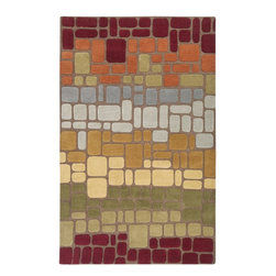 Surya - Contemporary Oasis 5'x8' Rectangle Brown-Red  Area Rug - The Oasis area rug Collection offers an affordable assortment of Contemporary stylings. Oasis features a blend of natural Brown-Red  color. Hand Tufted of 100% Wool the Oasis Collection is an intriguing compliment to any decor.