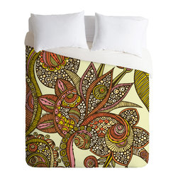 DENY Designs - Valentina Ramos Dina Duvet Cover - Turn your basic, boring down comforter into the super stylish focal point of your bedroom. Our Luxe Duvet is made from a heavy-weight luxurious woven polyester with a 50% cotton/50% polyester cream bottom. It also includes a hidden zipper with interior corner ties to secure your comforter. it's comfy, fade-resistant, and custom printed for each and every customer.
