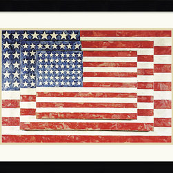 Amanti Art - Three Flags Framed Print by Jasper Johns - \'One night I dreamed that I painted a large American flag,\' Jasper Johns said, \'and the next morning I got up and I went out and bought the materials to begin it.\'