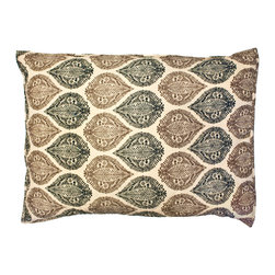 Divine Designs - Kelsey Block Print Sham- caramel, taupe, and black - This pair of shams will add a, colorful and vibrant style to your bedroom.