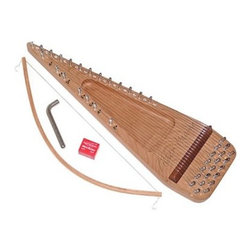 Zither Heaven 20 String Bowed Psaltery - This fun instrument has survived for centuries for good reason. The Zither 20-String Bowed Psaltery is a great instrument for young children interested in learning to play. Made with native North American hardwoods in the United States along with a Baltic birch back it is ideal for children ages six and up. The triangular shape separates the strings to form a diatonic scale on one side and the remaining chromatic notes on the other. A bow tuning key and rosin are also included. About Zither HeavenZither Heaven is dedicated to producing high quality musical instruments in the United States using sustainable native North American hardwoods along with other components that are made in the USA. Their commitment to quality and precision produces great-sounding musical instruments for both children and adults. Since Zither is involved in the production of their products at every stage and by producing locally they are able to guarantee satisfaction with their products.