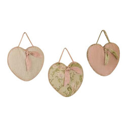 Sweet Jojo Designs - Annabel Wall Decor - The Annabel Wall Decor by Jojo Design include 3 wall hangings that will add a designers touch to any childs room! These childrens wall hangings are handcrafted with care and will brighten any childs room or nursery.