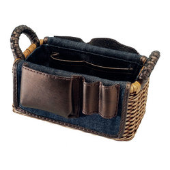 Organizing Wicker Basket with Utility Pockets, Small
