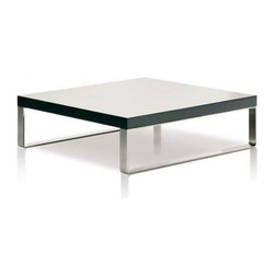 Estel - Estel | Jazz Coffee Table - The Jazz Coffee Table features a wood veneered top with a selection of lacquered finishes that are complemented by a sleek set of chrome plated steel legs. Select a shape and size that suits your space, and a contemporary colored finish that matches your interior's aesthetic.