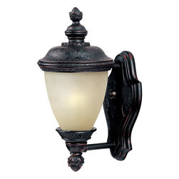 Maxim Lighting - Oriental Bronze / Mocha Glass Carriage House EE 1 Light Outdoor Wall Sconce - Product