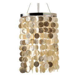 Lighting - Hand made from the Capiz shell also called glass oyster this small sized chandelier adds a coastal or tropical touch to any interior. The style is timeless and fits a large variety of interior styles from traditional to contemporary or even modern.