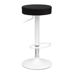 Fine Mod Imports - Angle Black Bar Stool - Features: