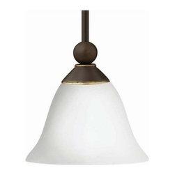 "Hinkley Lighting - Hinkley Lighting 4667-OPAL 1 Light 9"" Height Indoor Mini Pendant - Single Light 9"" Height Indoor Mini Pendant with Etched Opal Shade from the Bolla CollectionFeatures:"