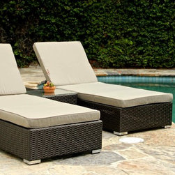 Our Work - 3 Piece Chaise Lounge Set (Grey)
