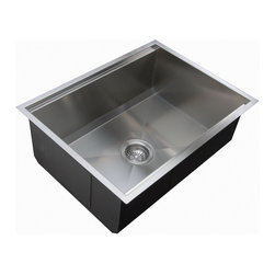 Ukinox - Ukinox DSL620 Bowl Under mount Kitchen Sink - The Ukinox DSL620 features a zero-radius undermount sink with a deep, beveled bottom. This sink features a special cut-out on the inside on the rim that fits a hardwood cutting board (included) that slides from side to side.
