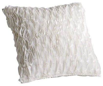 Contemporary Decorative Pillows Deconstructed Ribbon Pillow Cover