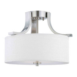 Thomas Lighting - Pendenza Semi-Flush Mount - Thomas Lighting SL860978 Pendenza Brushed Nickel Semi-Flush Mount