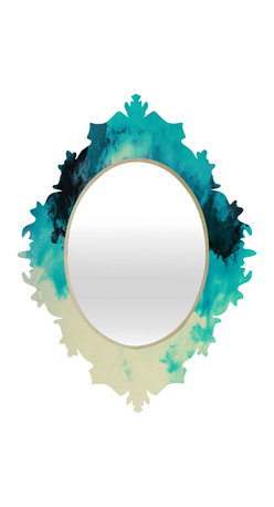 DENY Designs - Caleb Troy Painted Clouds V Baroque Mirror - As we like to say around here, if it ain't baroque, don't hang it! With a sleek mix of baltic birch ply trim that's unique to each piece and a glossy aluminum frame, the baroque mirrors collection bumps your stylish reflection up a notch. Custom made in the USA for every order.