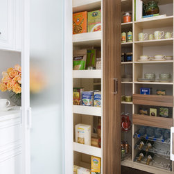 Pull-out Pantry Cabinet - Deep pull-out pantry cabinet and organizer.