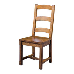 Four Hands - Reclaimed Wood Ladderback Dining Side Chair - Hand finished ladderback dining chair brings an inviting feel to your dining space. Welcome friends and family to join in the celebration of good food, good wine and good company. The ladderback keeps this solid wood chair from looking too heavy. Square legs are made even more durable with the H-stretcher. This environmentally responsible chair is made using reclaimed and recycled wood thats given an African Dusk finish that evokes the warmth of a sunset