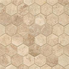 Tile Cappuccino Marble Hexagon Mosaic Polished Tiles (Box of 10 Sheets)